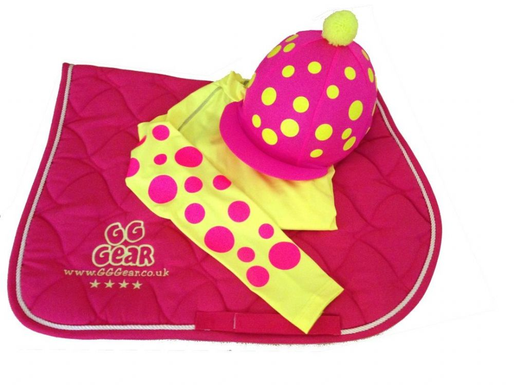 Childrens Hot Pink/Fluorescent  Yellow Layer Cross Country Colours